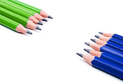 Green and blue pencil Stock Photo