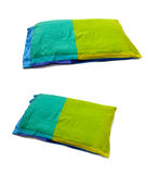 A green blue pillow Stock Photos