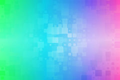 Green blue pink glowing various tiles background stock photos