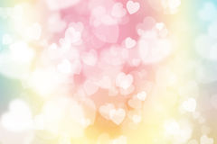 Green, blue and pink pastel colorful background, with heart-shap Stock Photos