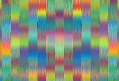 Green blue pink red and yellow painting lines pattern abstract Royalty Free Stock Photography