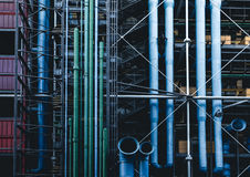 Green and Blue Pipe Line S Royalty Free Stock Photo