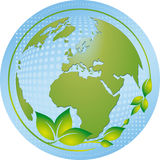 Green and blue planet Royalty Free Stock Photo