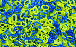 Green and blue plastic chain Stock Photo