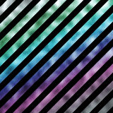 Green Blue Purple Metallic Faux Foil Holographic Stripes Royalty Free Stock Photography