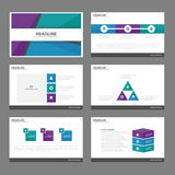 Green Blue purple presentation templates Infographic elements flat design set for brochure flyer leaflet marketing Royalty Free Stock Photography