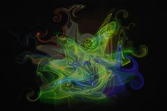Green blue red swirl. Vector smoky design with green blue red various colors Royalty Free Stock Photography