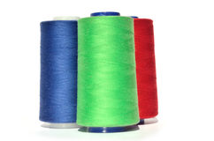 Green blue and red thread Stock Image