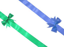 Green and blue ribbon Royalty Free Stock Photography