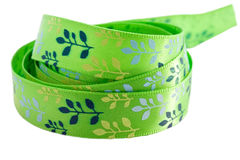 Green and blue ribbon Stock Images