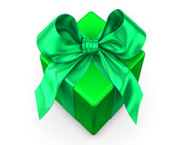Green with blue ribbon Stock Photo