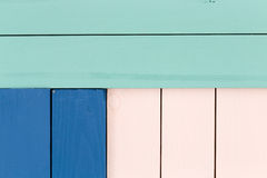 Green, blue and rose colored stained wood Royalty Free Stock Image