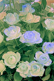 Green and blue Roses Royalty Free Stock Images