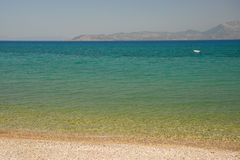 Green blue sea with beach Royalty Free Stock Photo