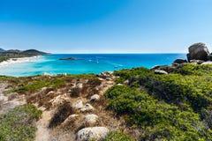 Green-blue sea in sardinia Royalty Free Stock Image