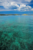 Green and blue see. Green see and blue sky in mediterian islands Kornati Stock Images