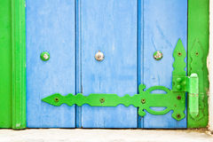 Green and blue shutter Royalty Free Stock Photo
