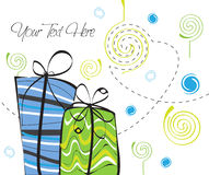 Green and Blue Sky Gift Stock Photo