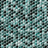 Green blue snake skin hexagonal seamless pattern texture Stock Image