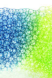 Green and blue soap blackground Royalty Free Stock Photos