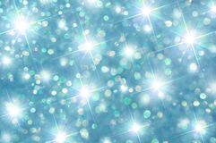 Green and Blue Sparkle Stars Stock Photography