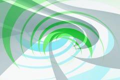Green and blue spiral background pattern. Abstract digital illustration, 3d render vector illustration