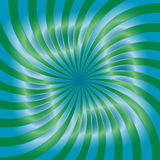 Green and Blue Spirals Pattern. Suitable for textile, fabric, packaging and web design. Royalty Free Stock Image