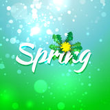 Green blue spring abstract background. Stock Photos