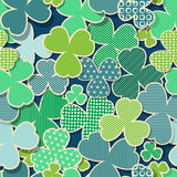 Green and blue St. Patrick's Day tile Royalty Free Stock Image