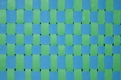 Green and blue stitching Royalty Free Stock Images