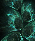 Green and blue substances. Green-blue substances - computer generated fractal background Royalty Free Stock Image
