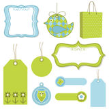 Green and blue tags Royalty Free Stock Photo