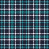 Green Blue tartan seamless vector pattern. Checkered plaid texture. Geometrical square background for fabric Royalty Free Stock Image