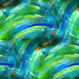 Green, blue texture watercolor seamless Royalty Free Stock Images