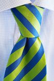 Green and blue tie. Green and blue loosened tie Stock Image