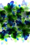 Green and blue  transparent flowers Royalty Free Stock Photo