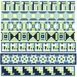 Green and blue trim or border collection Stock Image