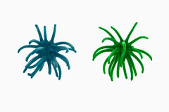 Green and blue virus against white background Stock Images