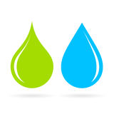 Green and blue water drop vector icon Royalty Free Stock Photo