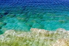 Green and blue water Royalty Free Stock Photo