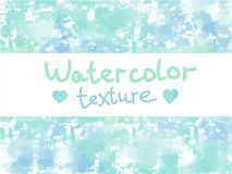 Green-blue watercolor texture. Hand-drawn watercolor fashion and modern texture. It is possible to use as a background royalty free illustration
