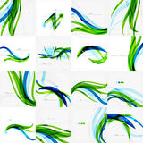 Green blue wave lines Royalty Free Stock Photo