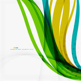 Green blue wave lines Stock Photos