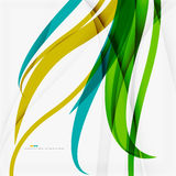 Green blue wave lines Royalty Free Stock Photos