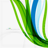 Green blue wave lines Royalty Free Stock Photography