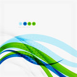 Green blue wave lines Stock Photography