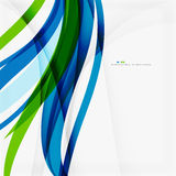 Green blue wave lines Royalty Free Stock Images