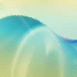 Green and blue waves Royalty Free Stock Photo