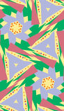 Green, Blue and Yellow Pattern. Green, blue and yellow triangle seamless pattern Stock Images