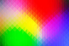Green blue yellow red rows of triangles background. Green yellow red abstract geometric background with rows of triangles Royalty Free Illustration